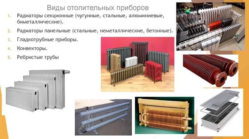 Отопительные приборы системы отопления