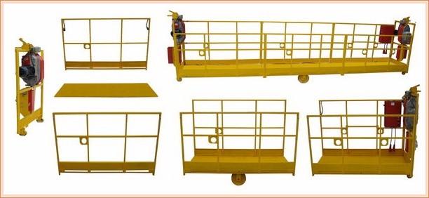 Комплектация и разборные части строительной фасадной люльки ZLP 630